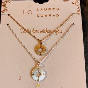 LC Lauren Conrad Compass Necklaces